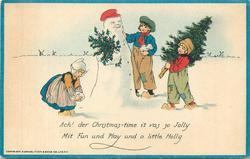 ACH! DER CHRISTMAS-TIME IT VAS SO JOLLY MIT FUN UND PLAY UND A LITTLE HOLLY Dutch children, snowman