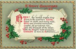 A HAPPY CHRISTMAS HARK, THE HERALD ANGELS....