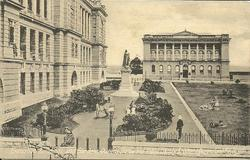 EXECUTIVE BUILDINGS AND GARDENS, QUEENS STATUE AND PUBLIC LIBRARY