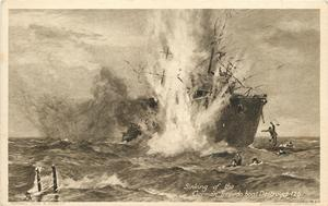 SINKING OF THE GERMAN TORPEDO BOAT DESTROYER 126