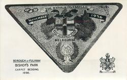 BOROUGH OF FULHAM, BISHOP'S PARK, CARPET BEDDING, 1956