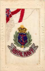 ROYAL NAVY  white ensign and badge