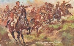 11TH HUSSARS, (CHERRY PICKERS) A SURPRISE ATTACK