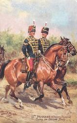 11TH HUSSARS, (CHERRY PICKERS) GOING ON ESCORT DUTY