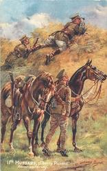 11TH HUSSARS, (CHERRY PICKERS) RECONNOITERING