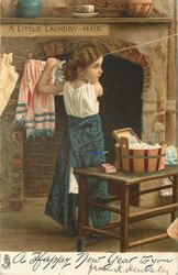 A HAPPY CHRISTMAS  A  LITTLE LAUNDRY-MAID
