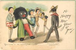 "A HAPPY NEW YEAR TO YOU ""GOLLIWOGG"" & THE HIGHWAYMAN"