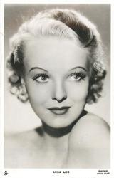 ANNA LEE  looks front/right head erect