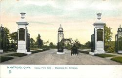 KENEY PARK GATE - WOODLAND ST. ENTRANCE