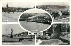 PUTTING GREENS/ROTHESAY BAY/ROTHESAY PIER/STATUE OF ALEX. BANNATYNE STEWART/ROTHESAY CASTLE