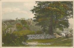 CAERGWRLE CASTLE FROM BRYN YORKIN