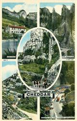5 views LION ROCK/THE PINNACLES/MENDIP FOXHOUNDS IN CHEDDAR GORGE/CHEDDAR CLIFFS/GOUGH'S CAVE AND CAVEMAN RESTAURANT
