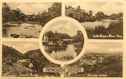 5 insets RIVER TIVY and CASTLE RUINS & RIVER TIVY and CENARTH BRIDGE and CENARTH BRIDGE and NEWCASTLE EMLYN