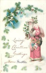 Santa, with Christmas tree