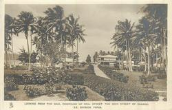 LOOKING FROM THE GAOL COMPOUND UP OPAL STREET, THE MAIN STREET OF SAMARI, S.E, DIVISION, PAPUA