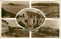 5 insets BARDSEY ISLAND/ THE BEACH/ Y GEGIN FAWR/ TY NEWYDD HOTEL AND BEACH/ THE VILLAGE FROM POWDER BOWL