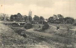 THE CHURCH FROM CASTLE CLOSE