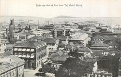 BIRDS EYE VIEW OF FORT FROM TAJ MAHAL HOTEL