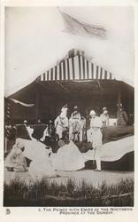 THE PRINCE WITH EMIRS OF THE NORTHERN PROVINCE AT THE DURBAR