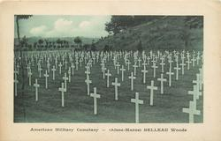 (AISNE-MARNE) BELLEAU WOODS crosses face left, hill back right