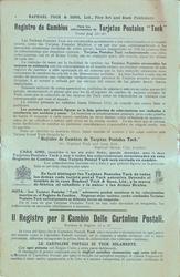 """Spanish REGISTRO DE CAMBIOS PARA LOS COLLECCIONISTAS DE TARJETAS POTSTALES """"TUCK"""", VEASE PAG 33-47"""