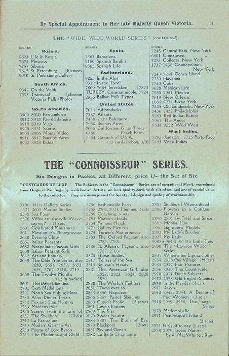 "THE ""CONNOISSEUR"" SERIES"