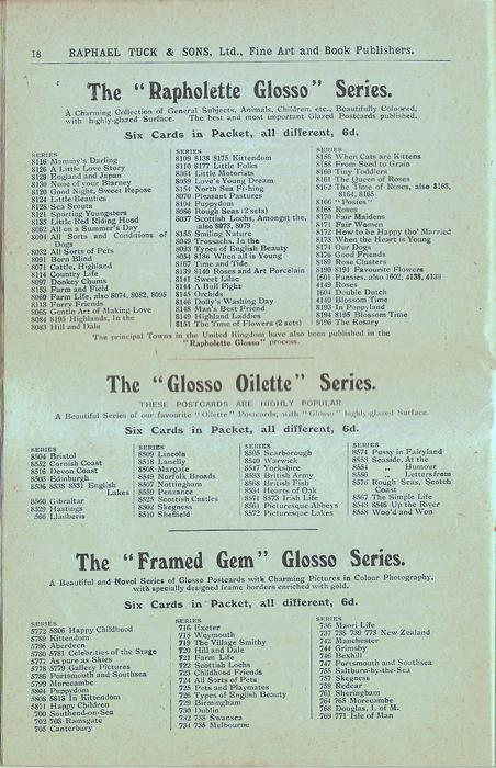 """THE """"RAPHOLETTE GLOSSO"""" SERIES, THE """"GLOSSO OILETTE"""" SERIES, THE """"FRAMED GEM"""" GLOSSO SERIES"""