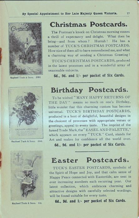CHRISTMAS POSTCARDS, BIRTHDAY POSTCARDS, EASTER POSTCARDS