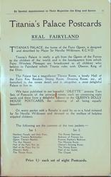 TITANIA'S PALACE POSTCARDS, REAL FAIRYLAND