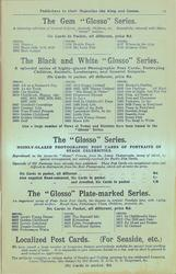 "THE GEM ""GLOSSO"" SERIES, THE BLACK AND WHITE ""GLOSSO"" SERIES, THE ""GLOSSO"" SERIES"