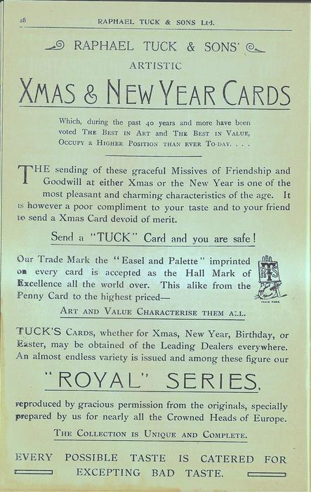 """XMAS & NEW YEAR CARDS, """"ROYAL"""" SERIES"""