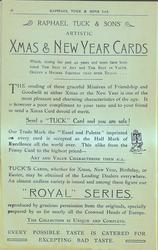 "XMAS & NEW YEAR CARDS, ""ROYAL"" SERIES"