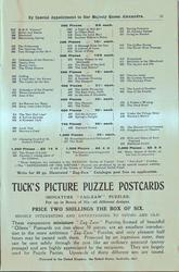 TUCK'S PICTURE PUZZLE POSTCARDS