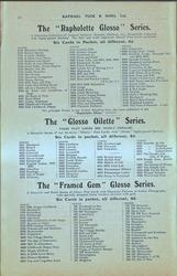"THE ""RAPHOLETTE GLOSSO"" SERIES, THE ""GLOSSO OILETTE"" SERIES, THE ""FRAMED GEM"" GLOSSO SERIES"