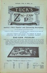 TUCK'S ZAG-ZAW (REGISTERED), THE ROYAL PICTURE PLAY PUZZLE