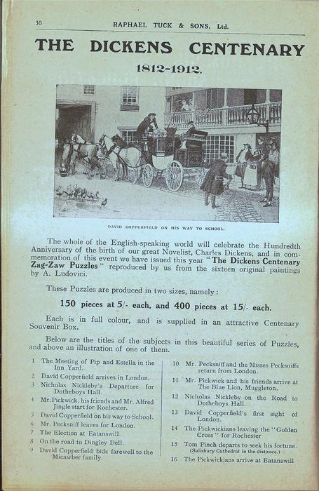 THE DICKENS CENTENARY 1812-1912