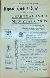 RAPHAEL TUCK & SONS' ARTISTIC CHRISTMAS AND NEW YEAR CARDS