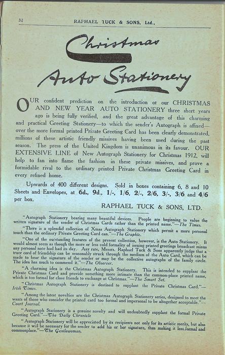 CHRISTMAS AUTO STATIONERY