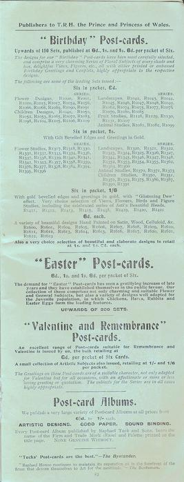 """""""BIRTHDAY"""" POST-CARDS, """"EASTER"""" POST-CARDS, """"VALENTINE AND REMEMBRANCE"""" POST-CARDS, POST-CARD ALBUMS"""
