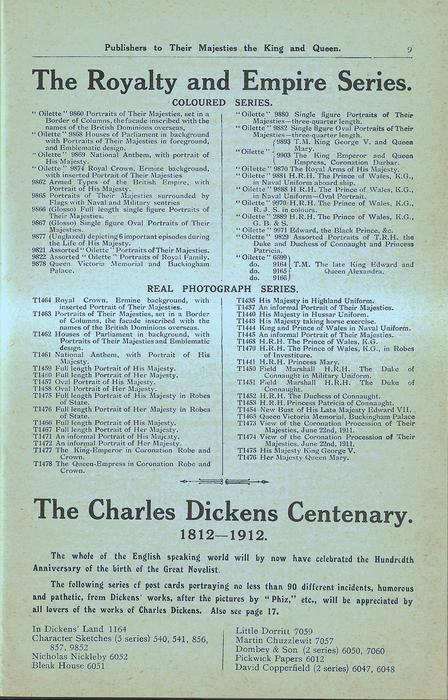 THE ROYALTY AND EMPIRE SERIES, THE CHARLES DICKENS CENTENARY