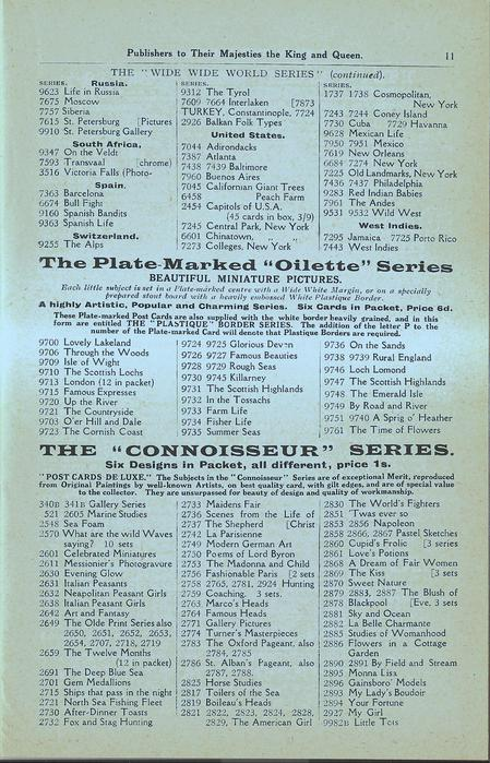 """THE PLATE-MARKED """"OILETTE"""" SERIES, THE """"CONNOISSEUR"""" SERIES"""
