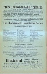 """REAL PHOTOGRAPH"" SERIES, THE PHOTOGRAPHIC CONNOISSEUR SERIES, ILLISTRATED SONGS, HYMNS, GREETINGS, & C."