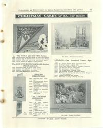 "CHRISTMAS CARDS, THE GOLD AND SILVER SERIES, THE POT-POURRI BOOKMARK SERIES, SEALED GREETINGS, THE ""JENNIE HARBOUR"" SERIES, LONDON - ONE HUNDRED YEARS AGO"