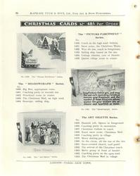 "CHRISTMAS CARDS,THE ""SHADOWGRAPH"" SERIES, THE ""PICTURE PARCHMENT"" SERIES, THE ART OILETTE SERIES"