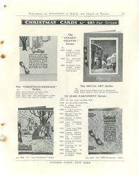 "CHRISTMAS CARDS, THE ""CHRISTMAS MESSAGE"" SERIES & THE ""GOLDEN OILETTE"" SERIES, THE METAL ART SERIES, YE OLDE PARCHMENT SERIES"