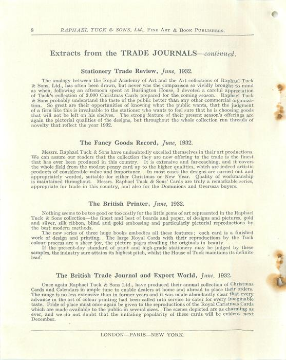EXTRACTS FROM THE TRADE JOURNALS - CONTINUED
