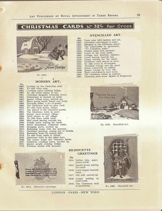 CHRISTMAS CARDS,  STENCILLED ART, MODERN ART, SILHOUETTE GREETINGS