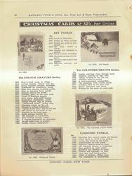 CHRISTMAS CARDS, ART PANELS, THE COLOUR GRAVURE SERIES, THE COLOURED CRAYON SERIES, RIBBONED PANELS