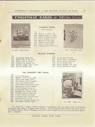 CHRISTMAS CARDS, GOLDEN GEMS, SEALED PANELS, THE MODERN ART SERIES