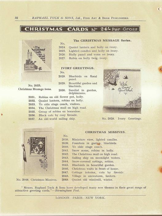 CHRISTMAS CARDS, THE CHRISTMAS MESSAGE SERIES, IVORY GREETINGS, CHRISTMAS MISSIVES